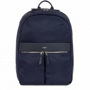 Knomo Laptop Rugzak 15 inch Mayfair Beaufort Donkerblauw/Zilver Voorkant