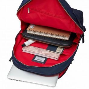 Knomo Laptop Rugzak 15 inch Mayfair Beaufort Donkerblauw/Zilver Open