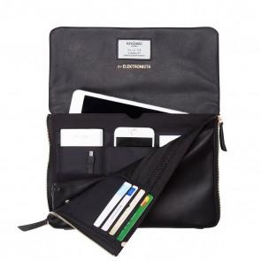 Knomo Elektronista Digital Clutch Bag Black Open