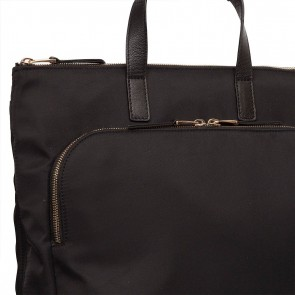 Knomo Harewood Leather Backpack Black 15 inch Voorvak