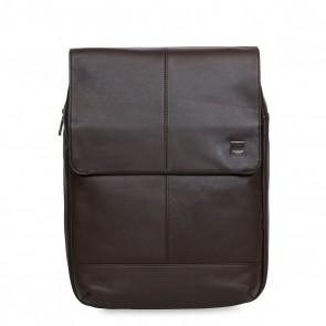 Knomo Hudson Leather Backpack Brown 15 inch Voorkant