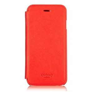 Knomo iPhone 6 Leather Folio Case Tomato Voorkant