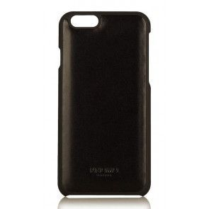 Knomo iPhone 6 Leather Snap On Case Black Achterkant