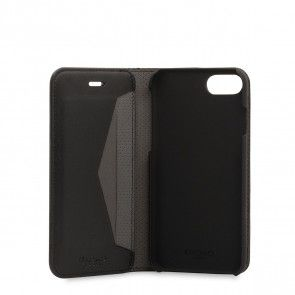Knomo iPhone 8/7 Hoesje Leather Premium Folio Black Open