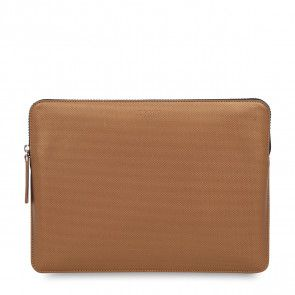 Knomo Laptop Sleeve Embossed Bronze 13 inch Voorkant