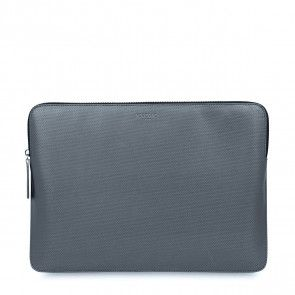 Knomo Laptop Sleeve Embossed Silver 13 inch Voorkant