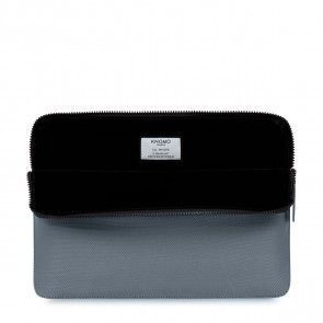 Knomo Laptop Sleeve Embossed Silver 13 inch Open