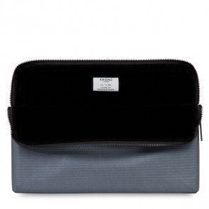Knomo Laptop Sleeve Embossed Silver 15 inch Open