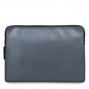 Knomo Laptop Leather Zip Sleeve Black 15 inch Voorkant