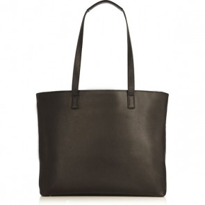 Laptoptas Knomo Maddox Leather Zip Tote Black 15 inch Achterkant