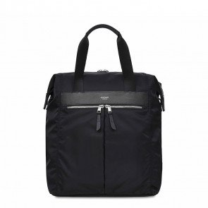 Knomo Mini Chiltern Tote Backpack Black 13 inch Voorkant