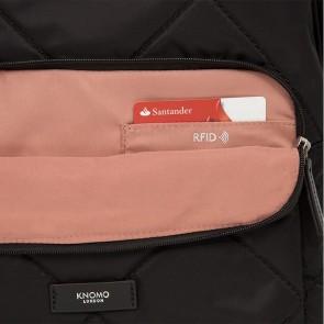 Knomo Bathurst Backpack Black 14 inch RFID vakje