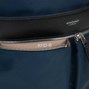 Knomo Beauchamp Backpack Navy 14 inch RFID vakje