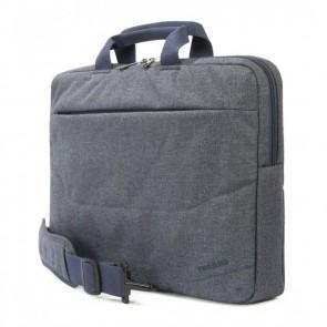 Tucano Linea Notebook Bag 15.6 inch Blue Zijdelings