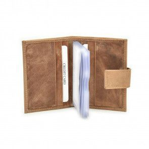 Lataza Card Wallet Taupe Open