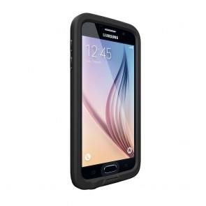 LifeProof Frē for Galaxy S6 Case Black schuin voorkant links