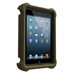 LifeProof LifeJacket for Frē or Nüüd iPad Mini 1, 2, 3 Case Olive Drab Green schuin voorkant