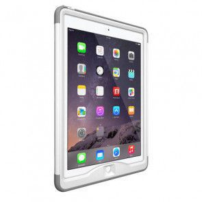 LifeProof Nüüd for iPad Air 2 Case White / Avalanche Zijdelings links