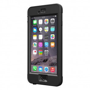 LifeProof Nüüd for iPhone 6 Plus Case Black schuin voorkant