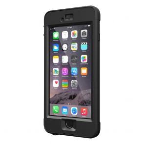 LifeProof Nüüd for iPhone 6 Plus Case Black schuin voorkant