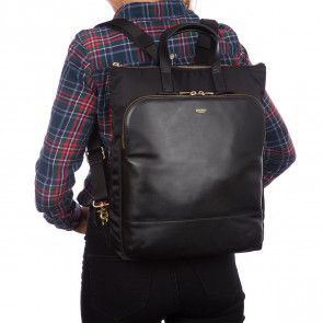 Knomo Harewood Leather Backpack Black 15 inch Model