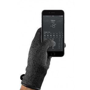 Mujjo Double Layered Touchscreen Gloves Large met smartphone