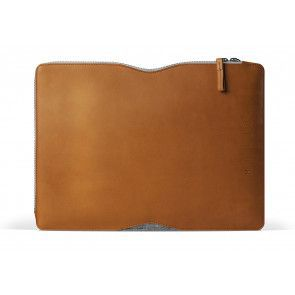 Mujjo Folio Sleeve 13 inch MacBooks Tan voorkant