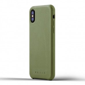 Mujjo Leather Case iPhone X / XS Olive