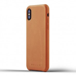 Mujjo Leather Case iPhone X / XS Tan Achterkant
