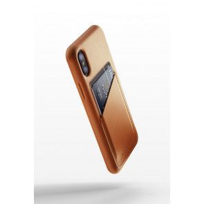 Mujjo Leather Wallet Case iPhone X Tan