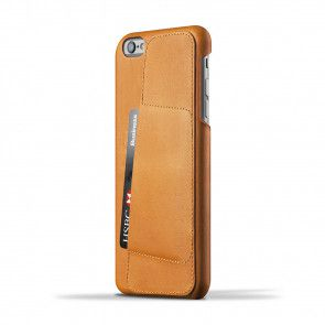 Mujjo Leather Wallet Case 80º iPhone 6/6S Plus Tan achterkant