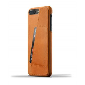 Mujjo Leather Wallet Case iPhone 7 Plus Tan Achterkant