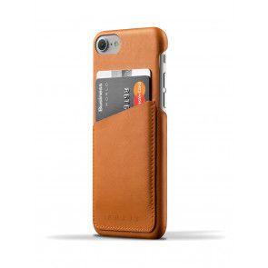 Mujjo Leather Wallet Case iPhone 7 Tan Achterkant