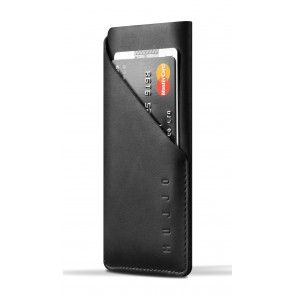 Mujjo Leather Slim Wallet iPhone 6 Black