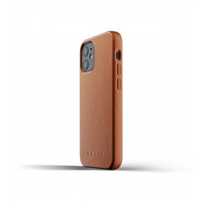 Mujjo Leren iPhone 12 mini Hoesje Tan