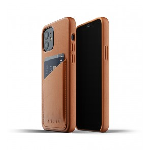Mujjo Leren Wallet Case iPhone 12 & 12 Pro Hoesje Tan