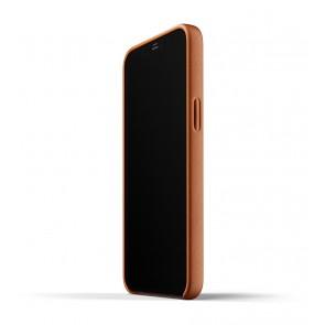 Mujjo Leren Wallet Case iPhone 12 Pro Max Hoesje Tan