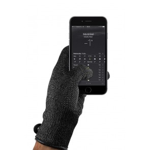 Mujjo Single Layered Touchscreen Gloves Large met smartphone
