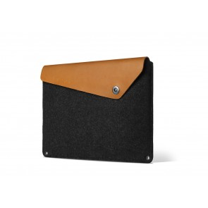Mujjo Sleeve 12 inch MacBook Tan schuin voorkant