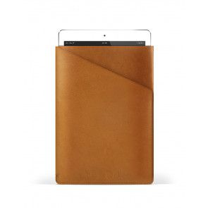 Mujjo Slim Fit iPad Air 1/2 sleeve voorkant met iPad