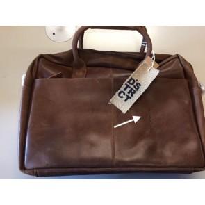 DSTRCT Fletcher Street Business Laptop Bag Cognac 15-17 inch - Outlet