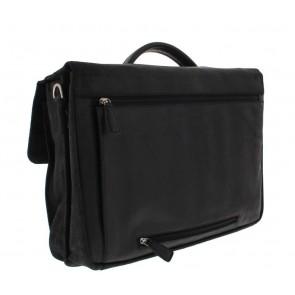 Plevier Business Laptoptas 36 Zwart 17.3 inch Achterkant