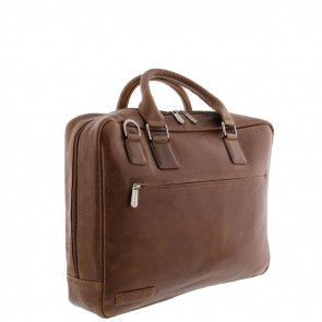Plevier Business Laptoptas 485 Cognac 17 inch Voorkant