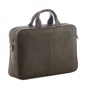 Plevier Business Laptoptas 604 Donkerbruin 12-14 inch Achterkant