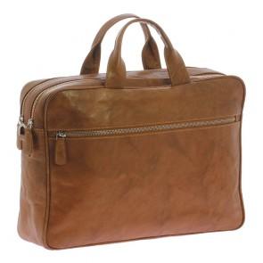 Plevier Business Laptoptas 604 Cognac 12-14 inch Voorkant