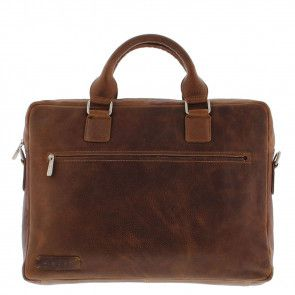 Plevier Business Laptoptas 477 Cognac 15.6 inch Voorkant