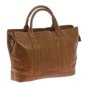 Plevier Leather Dames Business Laptoptas Cognac 15.6 inch Voorkant