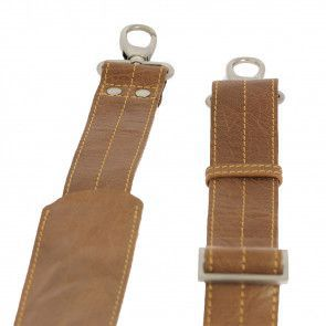 Plevier Leather Dames Business Laptoptas Cognac 15.6 inch Schouderriem