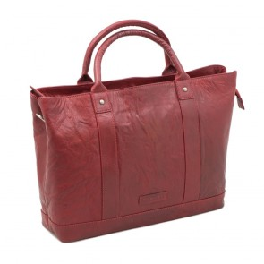 Plevier Leather Dames Business Laptoptas Rood 15.6 inch Voorkant