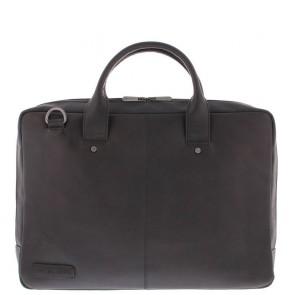 Plevier Leren Business Laptoptas Omega Zwart 17.3 inch